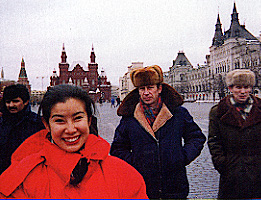 Lisa Ling in Moscow s Red Square as a Channel One reporter in 1993 Lisa Ling Channel One