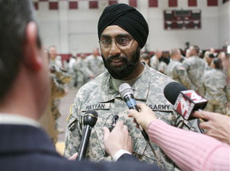 Asian american first sikh becomes us army officer in 26 years sikh us army captain sciox Gallery