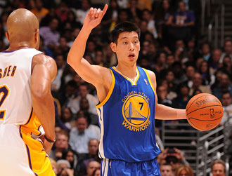 Warriors rookie point guard Jeremy Lin scored 13 points in 18 minutes ...
